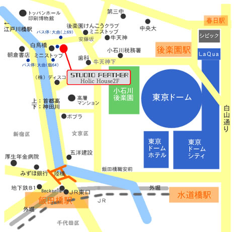 スタジオフェザー地図
