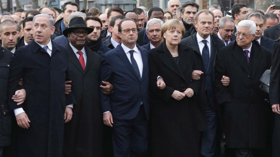 フランスのデモ行進