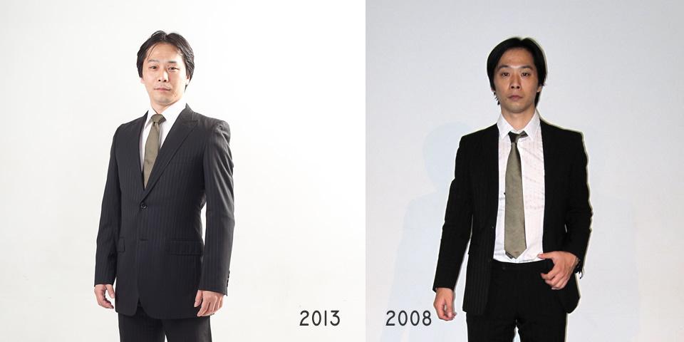 2008年と2013年のShinji
